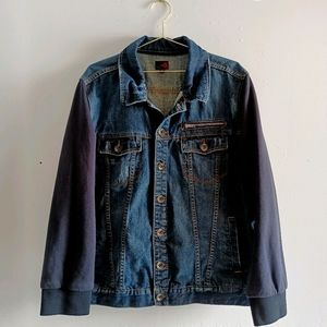 G by Guess Denim Bomber Jacket Distressed XXL